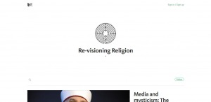 Screenshot re-visioning religion webmagazine